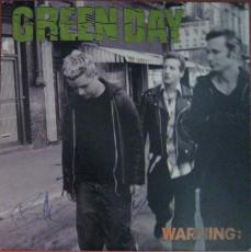 Green Day Warning Autographed Signed Album LP Certified Authentic AFTAL COA