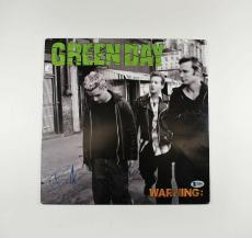 Green Day Warning Autographed Signed Album LP Certified Beckett BAS AFTAL COA