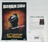 Green Day X3 Billie Joe Mike & Tre Signed 21st Century Breakdown Poster Psa