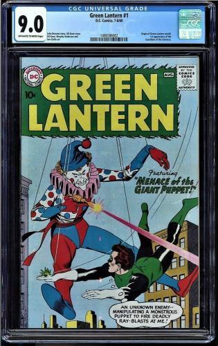 Green Lantern #1 Cgc 9.0 Oww 1st Silver Age Green Lantern's Own Title 1486586002