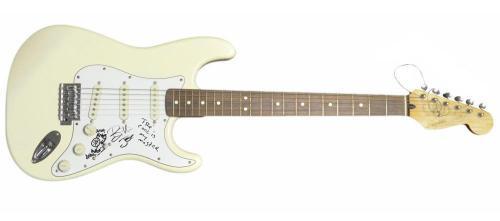 Greenday Signed Fender Guitar. JSA