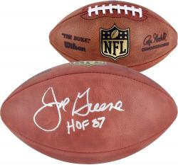 Pittsburgh Steelers Joe Greene Autographed Football - Mounted Memories