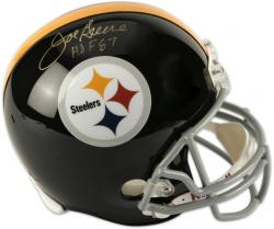 Joe Greene Pittsburgh Steelers Autographed Riddell Replica Helmet with HOF 87 Inscription