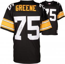 Joe Greene Pittsburgh Steelers Autographed Pro Line Black jersey with HOF 87 Inscription - Mounted Memories