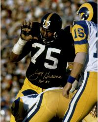 "Joe Greene Autographed Steelers 16x20 Photo with ""HOF 87"" Inscription"