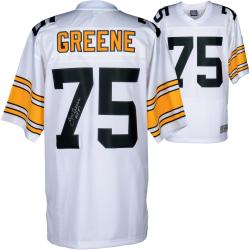 Joe Greene Pittsburgh Steelers Autographed Pro Line White jersey with HOF 87 Inscription