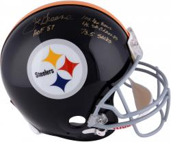 Joe Greene Pittsburgh Steelers Autographed Riddell Pro-Line Authentic Helmet with Multiple Inscriptions-#2-23 of a Limited Edition of 24 - Mounted Memories