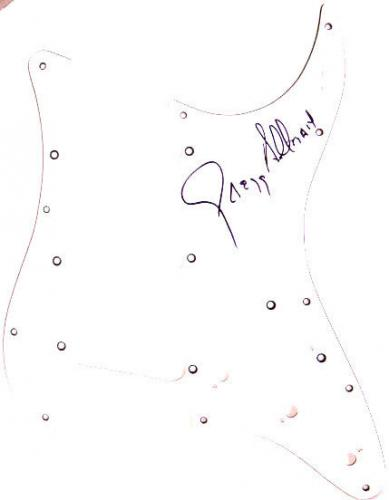 Greg Allman Brothers Signed Fender Strat Pick Guard JSA