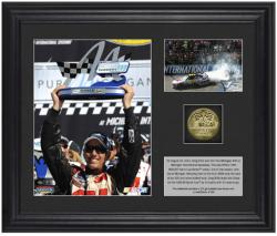 """2012 Pure Michigan 400 Greg Biffle Winner Framed 6"""" x 5"""" Photo with Plate & Gold Coin - Limited Edition of 316"""