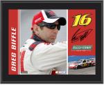 "Greg Biffle 10"" x 13"" Sublimated Plaque - Mounted Memories"