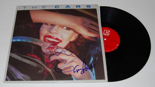 GREG HAWKES & ELLIOT EASTON signed (THE CARS) RECORD ALBUM LP *ELEKTRA* W/COA