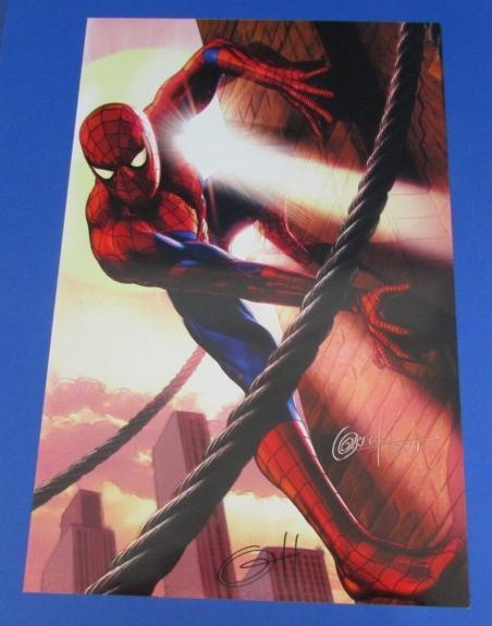 Greg Horn Autographed/Signed Spider-Man 11x17 Art Print 123403