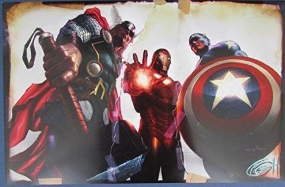 Greg Horn Signed MARVEL Thor Iron Man Captain America 11x17 Print 127120
