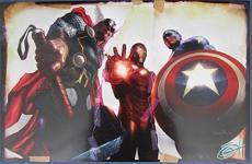 Greg Horn Signed MARVEL Thor Iron Man Captain America 11x17 Print 127124