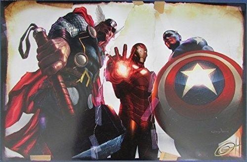Greg Horn Signed MARVEL Thor Iron Man Captain America 11x17 Print 127138