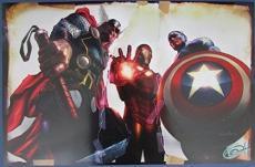Greg Horn Signed MARVEL Thor Iron Man Captain America 11x17 Print 127151