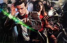 Greg Horn Signed Matt Smith & Karen Gillian 11x17 Doctor Who Photo