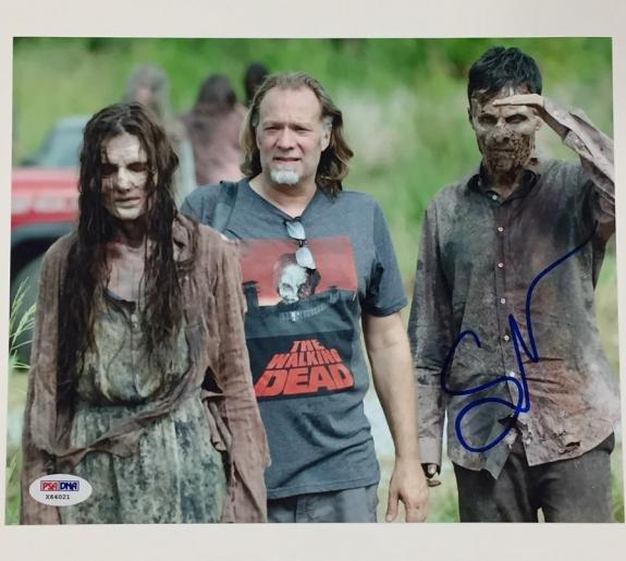 GREG NICOTERO Autograph THE WALKING DEAD Signed 8x10 Photo w/ PSA/DNA COA
