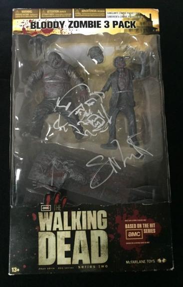 Greg Nicotero Signed 'the Walking Dead' Mcfarlane Figures W/sketch Psa/dna