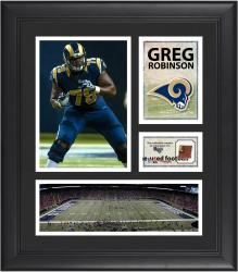Greg Robinson St. Louis Rams Framed 15'' x 17'' Collage with Game-Used Football
