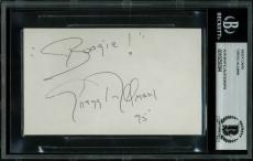 "Gregg Allman ""Boogie!"" Signed 3x5 Index Card Autographed BAS Slabbed"