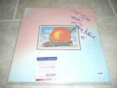 Gregg Allman Brothers Eat a Peach Signed Autographed LP Record PSA Certified