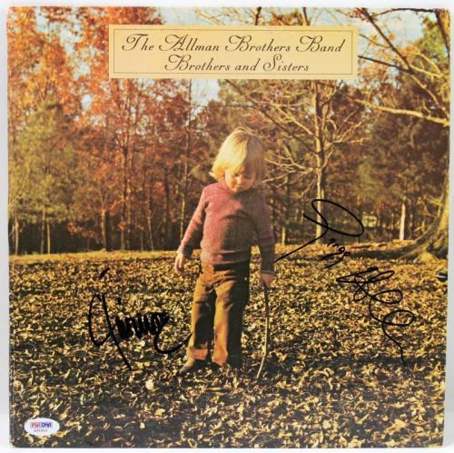 Gregg Allman & Jaimoe Johanson Signed Album Cover PSA/DNA #X31611