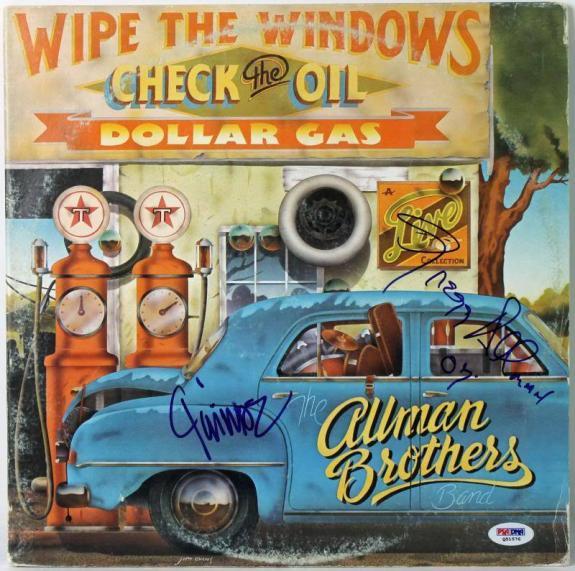 Gregg Allman & Jaimoe Johanson Signed Album Cover W/ Vinyl PSA/DNA #Q51576
