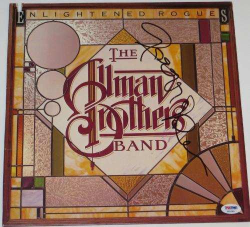 Gregg Allman signed aTHlbum the allman brothers band enlightened rogues psa dna