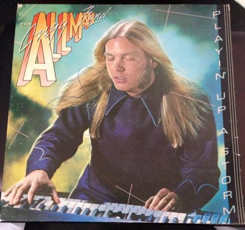 "Gregg Allman Signed Autograph ""playin' Up A Storm"" Album Vinyl Lp Brothers Band"