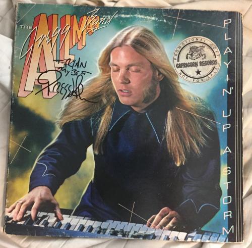 Gregg Allman Signed Autographed Playin Up A Storm Record Album LP COA