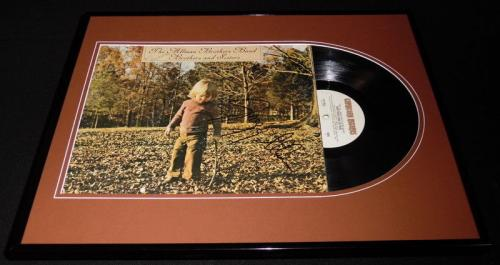 Gregg Allman Signed Framed 1973 Brothers & Sisters Record Album Display