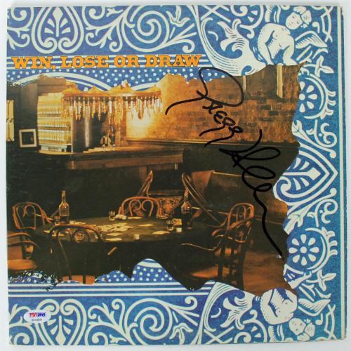 Gregg Allman Signed Win, Lose Or Draw Album Cover PSA/DNA #AB43044
