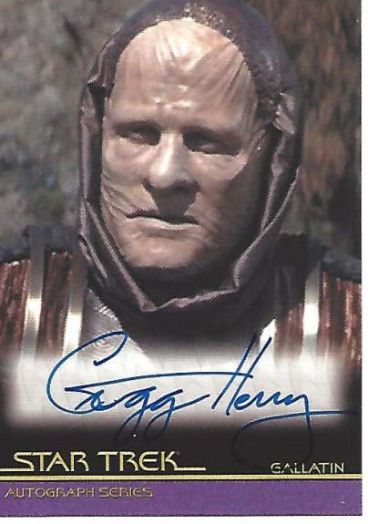 "GREGG HENRY as GALLATIN in ""STAR TREK"" INSURRECTION - Signed CERTIFIED 2009 CBS STUDIO CARD"