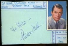 Gregory Peck Hand Signed Jsa Album Page Authenticated Autograph