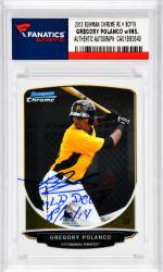 Gregory Polanco Pittsburgh Pirates Autographed 2013 Bowman Chrome RC # BCP79 Card with MLB Debut 6/10/14 Inscription