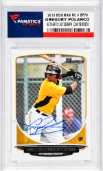 Gregory Polanco Pittsburgh Pirates Autographed 2013 Bowman RC # BP79 Card