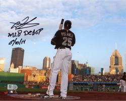 "Gregory Polanco Pittsburgh Pirates Autographed 8'' x 10'' Waiting On Deck Photograph with ""MLB DEBUT 6/10/14"" Inscription"