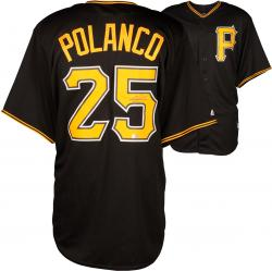 Gregory Polanco  Pittsburgh Pirates Autographed Replica Black Jersey