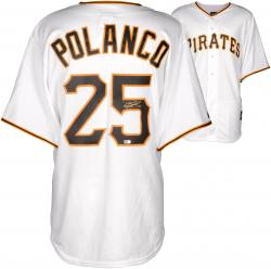 Gregory Polanco  Pittsburgh Pirates Autographed Replica White Jersey