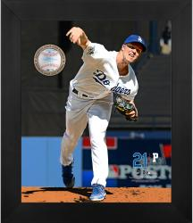 GREINKE, ZACK FRAMED GAMEBREAKER 20x24 PHOTO W/BALL - Mounted Memories