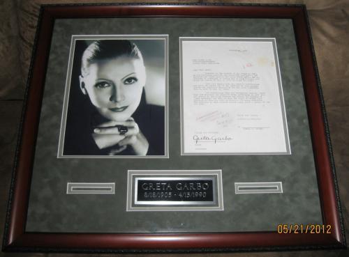 Greta Garbo Original 1927 Signed MGM Movie Contract.  PSA/DNA Full letter coa!!