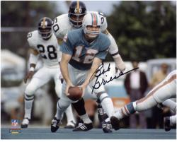 Bob Griese Miami Dolphins Autographed 8'' x 10'' Pitch Black Photograph - Mounted Memories