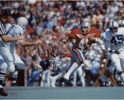 """Archie Griffin Ohio State Buckeyes Autographed 8"""" x 10"""" Horizontal Scarlet Uniform Photograph with HT 1974/75 Inscription"""