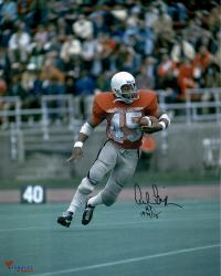 """Archie Griffin Ohio State Buckeyes Autographed 16"""" x 20"""" Vertical Scarlet Uniform Photograph with Heisman 74/75 Inscription"""