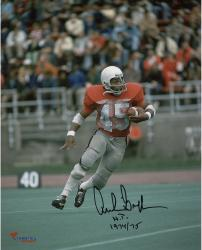 "Archie Griffin Ohio State Buckeyes Autographed 8"" x 10"" Vertical Scarlet Uniform Photograph with HT 1974/75 Inscription"