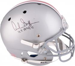 Archie Griffin Ohio State Buckeyes Autographed Riddell Replica Helmet with HT 74-75 Inscription - Mounted Memories