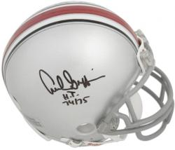 Archie Griffin Ohio State Buckeyes Autographed Riddell Mini Helmet with HT 74-75 Inscription - Mounted Memories