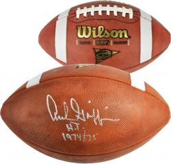Archie Griffin Ohio State Buckeyes Autographed NCAA Wilson Football with HT 74-75 Inscription - Mounted Memories