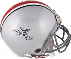 Archie Griffin Ohio State Buckeyes Autographed Riddell Pro Line Authentic Helmet with HT 74-75 Inscription - Mounted Memories